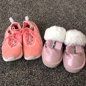 Nike tennis shoes Michael Kors slippers size 12